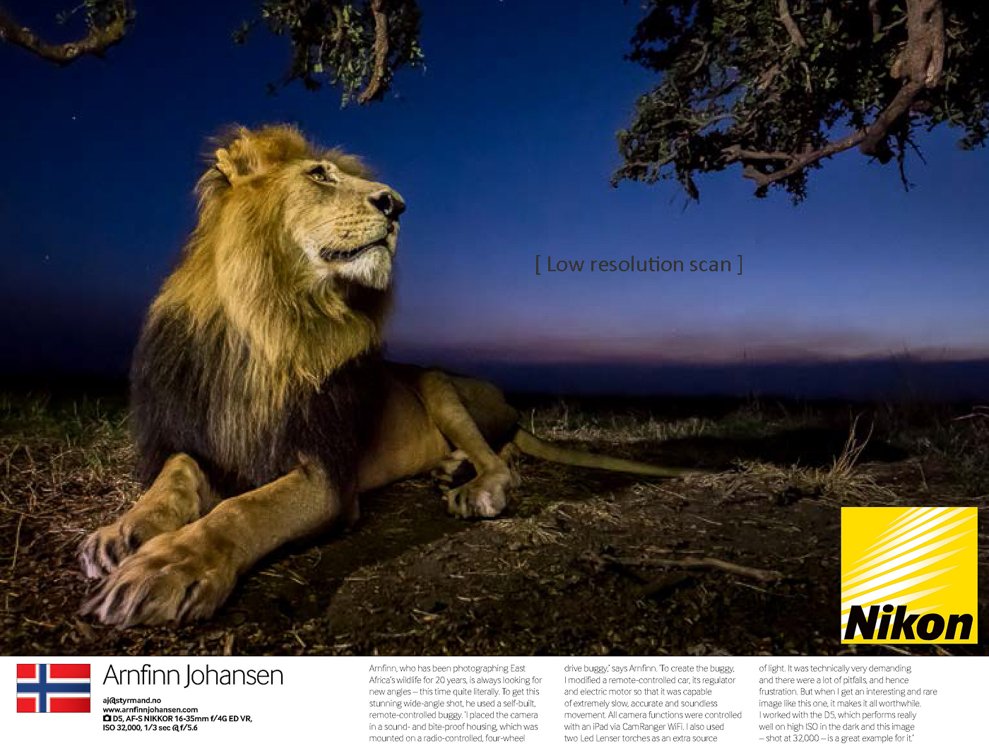 Featured in Nikon Pro Magazine – Arnfinn Johansen Wildlife Photography